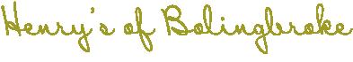 Henry's of Bolingbroke Logo